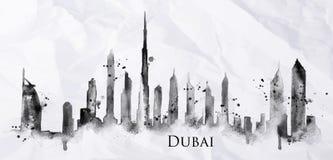 Silhouette ink Dubai Royalty Free Stock Photo
