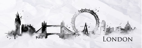 Silhouette ink London vector illustration