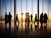Silhouette of International Business People Royalty Free Stock Image