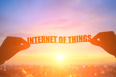 Silhouette internet of things Royalty Free Stock Images