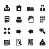 Silhouette Internet and Web Site Icons Stock Photo