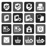 Silhouette Internet and Website buttons and icons. Vector icon set Stock Photography