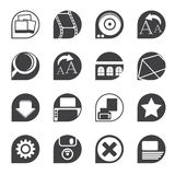 Silhouette Internet and Website Icons Stock Photos