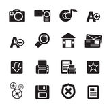 Silhouette Internet and Website icons Royalty Free Stock Photography