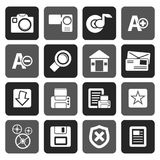 Silhouette Internet and Website icons. Vector Icon Set