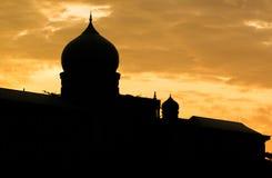 Silhouette islamique II de dôme photographie stock libre de droits
