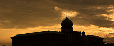 Silhouette islamique III de dôme images stock