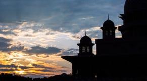 Silhouette islamique V de dôme photos stock