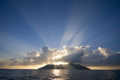 Silhouette Island Royalty Free Stock Photos