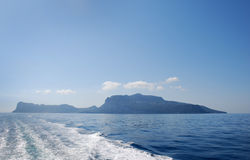 Silhouette of island of Capri Royalty Free Stock Photo