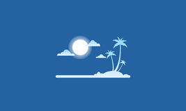 Silhouette of island flat vector style Stock Images