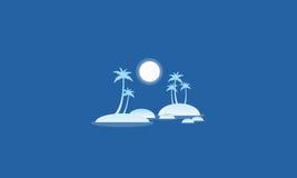 Silhouette of islands beautiful scenery Stock Image