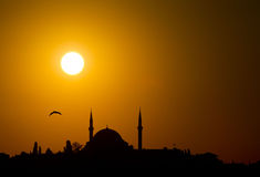 Silhouette, Istanbul Stock Images