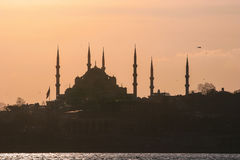 Silhouette of Istanbul, Turkey Stock Images