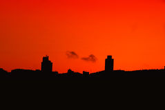 Silhouette of istanbul. Urban abstract red silhouette from Istanbul Turkey Royalty Free Stock Image