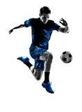 Silhouette italienne d'homme de footballeur Photo libre de droits