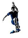 Silhouette italienne d'homme de footballeur Photos stock