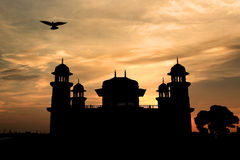 Silhouette of Itmad-Ud-Daulah's tomb (baby taj or the Jewel Box) Stock Image