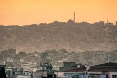 Silhouette of Izmir City Stock Photo