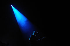 Silhouette of Jamie Smith, member of The XX band Stock Images