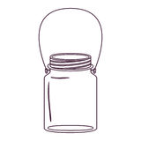 Silhouette jar of jam with handle Royalty Free Stock Images