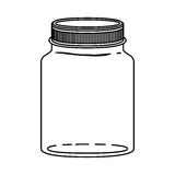 Silhouette jar of jam with lid Royalty Free Stock Photography