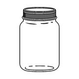 Silhouette jar of jam with lid Royalty Free Stock Image