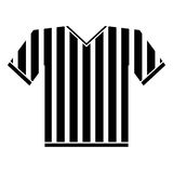 Silhouette jersey referee american football Stock Photo