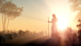 Silhouette of Jesus Stock Photography
