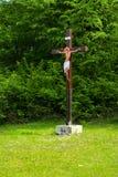 Silhouette of Jesus christ crucifix cross on heaven sunset concept - Christmas catholic religion, christian worship, happy Easter. Day, praying praise good stock photos