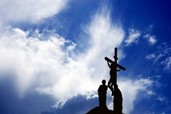 Silhouette of Jesus Christ Royalty Free Stock Images