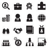 Silhouette Job icon Set Royalty Free Stock Image
