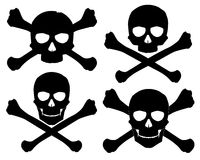 Silhouette of the Jolly Roger. Vector illustration. Silhouette of the Jolly Roger. See also these skull with crossed saber and pistol in my portfolio includes royalty free illustration