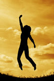 Silhouette jump Royalty Free Stock Photos