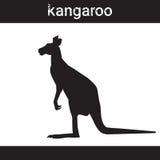 Silhouette Kangaroo In Grunge Design Style Animal Icon Royalty Free Stock Photos