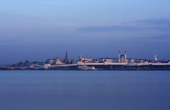 Silhouette of Kazan Kremlin. Royalty Free Stock Photo