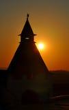 Silhouette of the Kazan Kremlin tower Stock Image