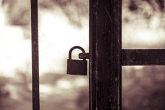 Silhouette key lock Royalty Free Stock Images