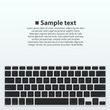 Silhouette keyboard Stock Photos