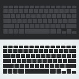 Silhouette keyboard Stock Images