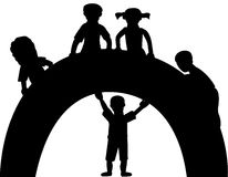 Silhouette of kids royalty free stock image
