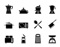 Silhouette kitchen and household equipment icon Royalty Free Stock Images