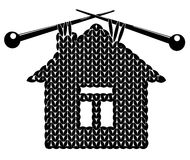 The silhouette knitted house Stock Photography