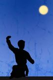 Silhouette of kongfu Royalty Free Stock Photo
