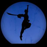 Silhouette of kongfu Royalty Free Stock Images