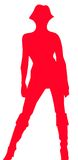silhouette kvinnan Royaltyfri Foto