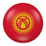 Silhouette of Kyrgyzstan button Royalty Free Stock Images