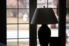 Silhouette of lamp and shade Stock Image