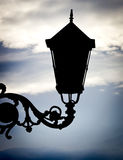 Silhouette lamppost Royalty Free Stock Image