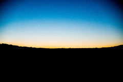 Silhouette of Land Under Blue Sky Royalty Free Stock Photo